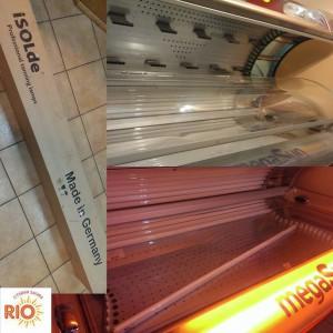 замена ламп в студии загара Рио в мытищах